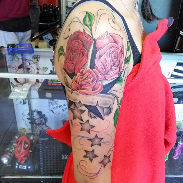 155 Cool Star Tattoos for Men & Women 15