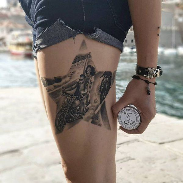 155 Cool Star Tattoos for Men & Women 130
