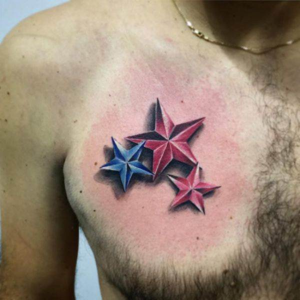 155 Cool Star Tattoos for Men & Women 132