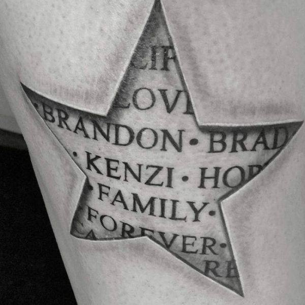 155 Cool Star Tattoos for Men & Women 138