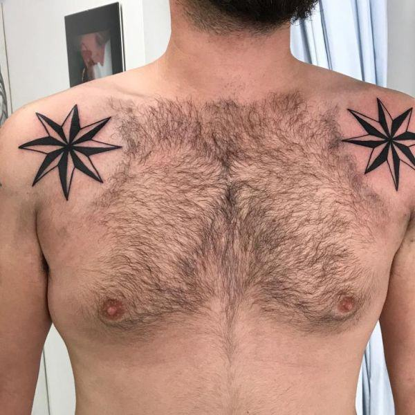 155 Cool Star Tattoos for Men & Women 27