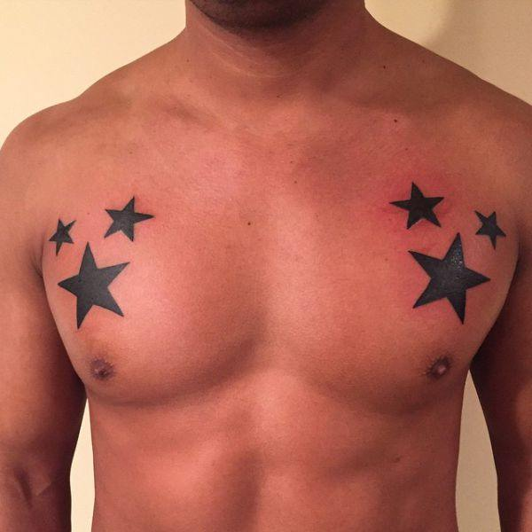 155 Cool Star Tattoos for Men & Women 31