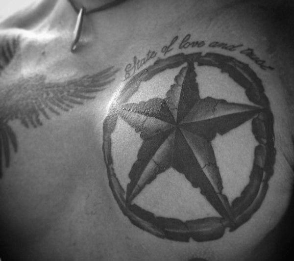 155 Cool Star Tattoos for Men & Women 44