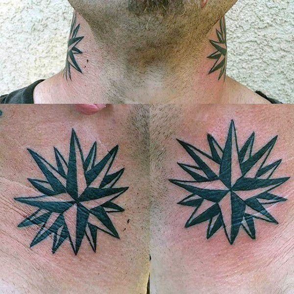 155 Cool Star Tattoos for Men & Women 50