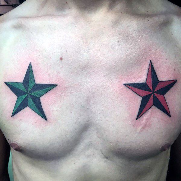 908c0eb454164 There are plenty of ideas you can come up with for a 3D tattoo, and a star  tattoo design is always one of them.