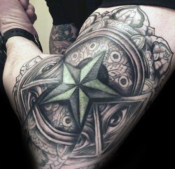 155 Cool Star Tattoos for Men & Women 61