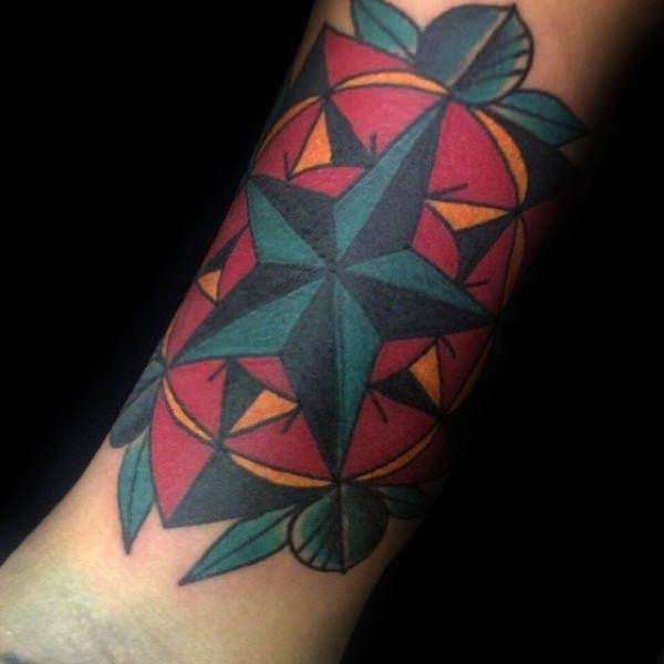 155 Cool Star Tattoos for Men & Women 62
