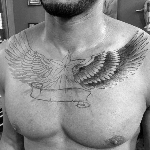 155 Cool Star Tattoos for Men & Women 66