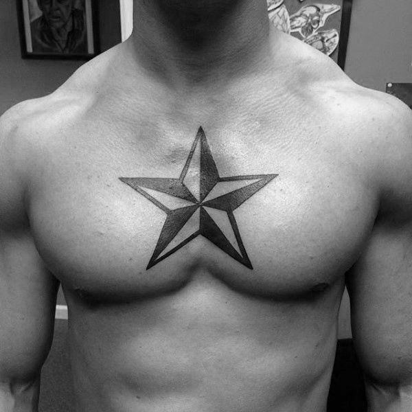 155 Cool Star Tattoos for Men & Women 70