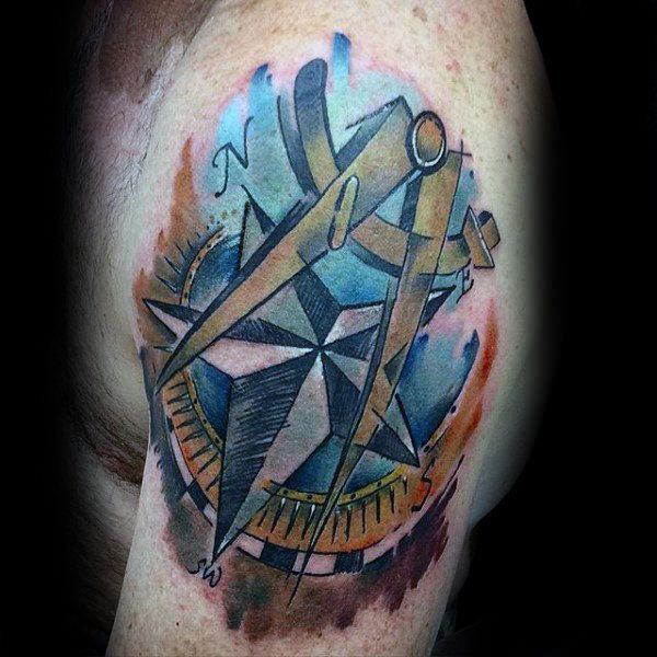 155 Cool Star Tattoos for Men & Women 71