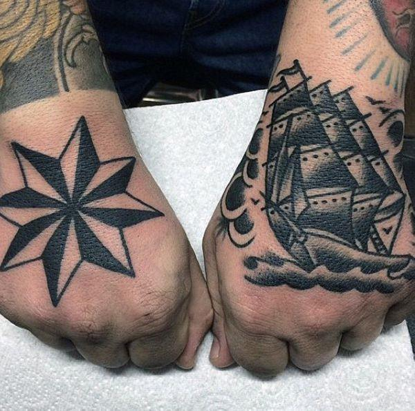 155 Cool Star Tattoos for Men & Women 74