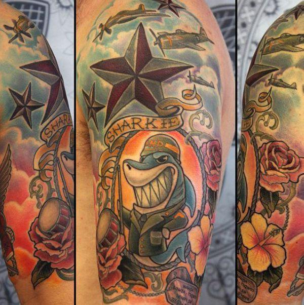 155 Cool Star Tattoos for Men & Women 88