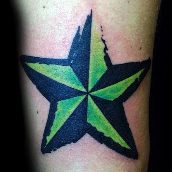155 Cool Star Tattoos for Men & Women 90