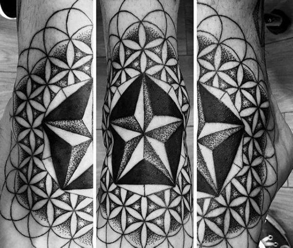 155 Cool Star Tattoos for Men & Women 91