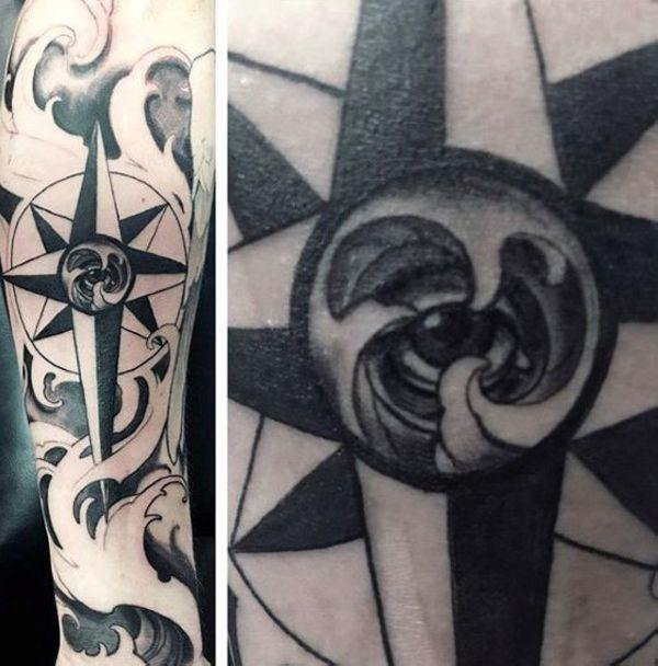 155 Cool Star Tattoos for Men & Women 94
