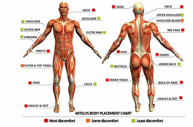 human body diagram tattoo tattoo pain chart how much will it hurt  wild tattoo art  tattoo pain chart how much will it