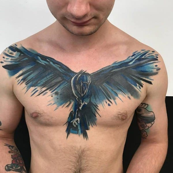 f7b306092 ... a tattoo then a human canvas with beautiful art on it. While most crow  tattoos are grey or black, you may also come across a small number of  colored ...