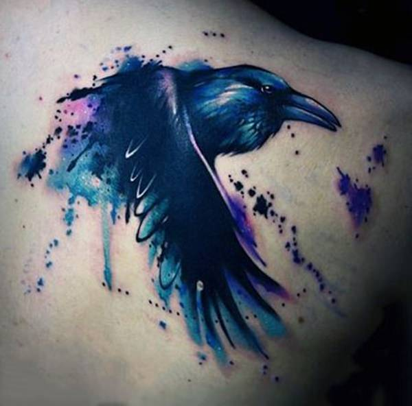 a2121ab27 While most crow tattoos are grey or black, you may also come across a small  number of colored depictions as well. raven tattoos