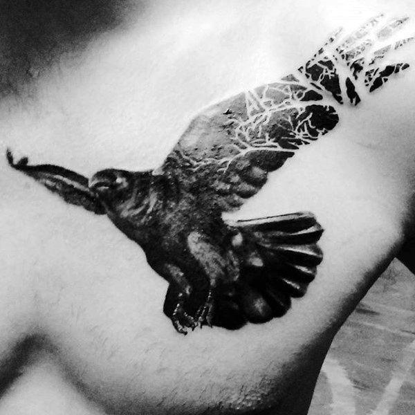 1ca837ac9795f 125 Awesome Crow/Raven Tattoo Ideas and their Meanings - Wild Tattoo Art