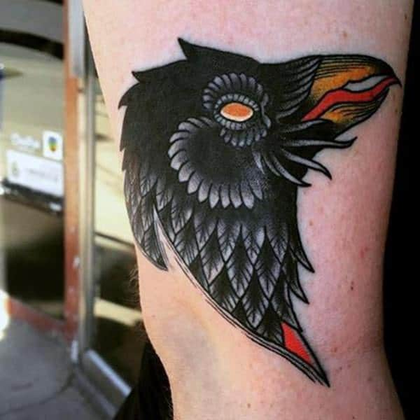 857eb3066 125 Awesome Crow/Raven Tattoo Ideas and their Meanings - Wild Tattoo Art