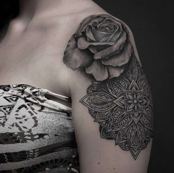 155 Rose Tattoos: Everything You Should Know (with Meanings) 112