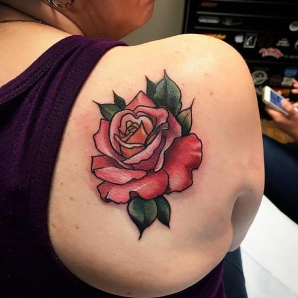91574289a 155 Rose Tattoos: Everything You Should Know (with Meanings) - Wild ...