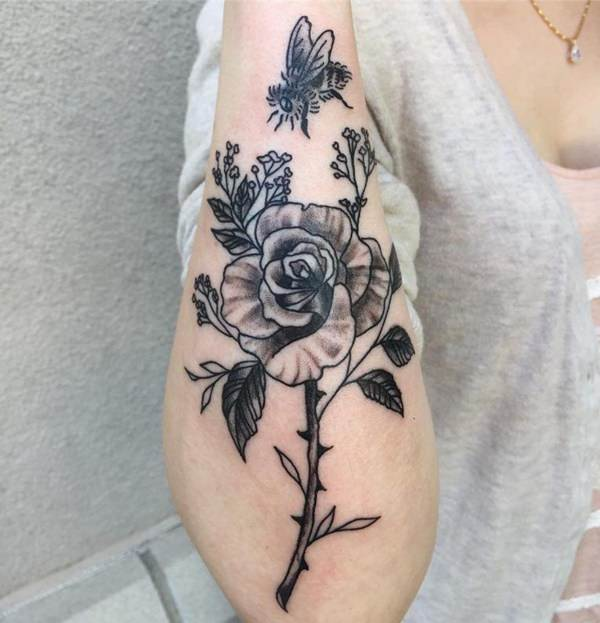 155 Rose Tattoos: Everything You Should Know (with Meanings) 47