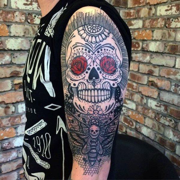 Tattoo Designs With Price: 155 Sugar Skull Tattoo Designs With Meaning