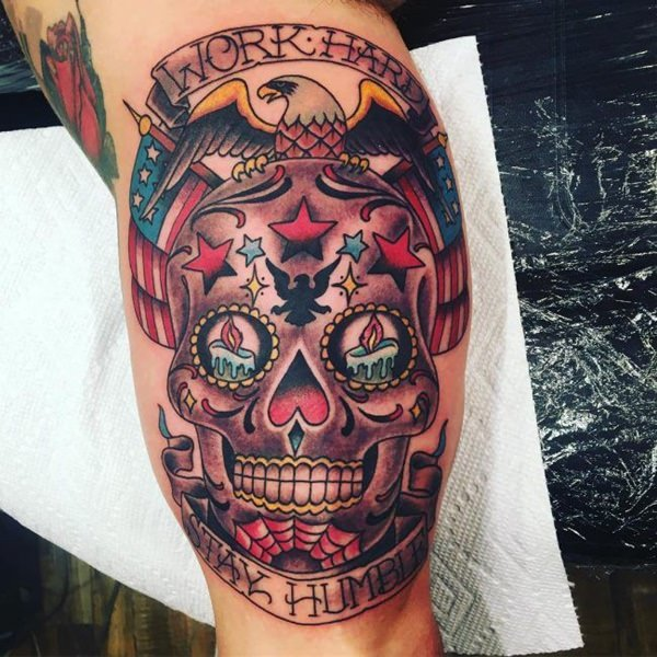 155 Sugar Skull Tattoo Designs With Meaning