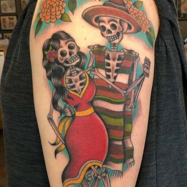 0cffac1f3 155 Day of the Dead Tattoo Ideas and Everything You Need to Know ...