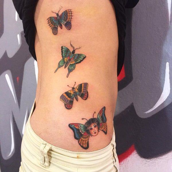 adc39b7c36109 That is something you cannot get when a butterfly is inked with black  color. You should try a white tattoo if you possess dusky skin complexion  and embrace ...
