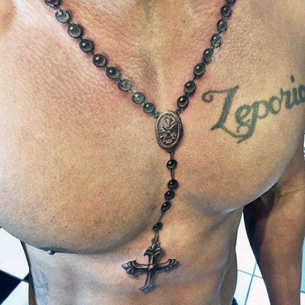 3f4cb680f 75 Brilliant Rosary Tattoo Ideas and Their Meanings - Wild Tattoo Art
