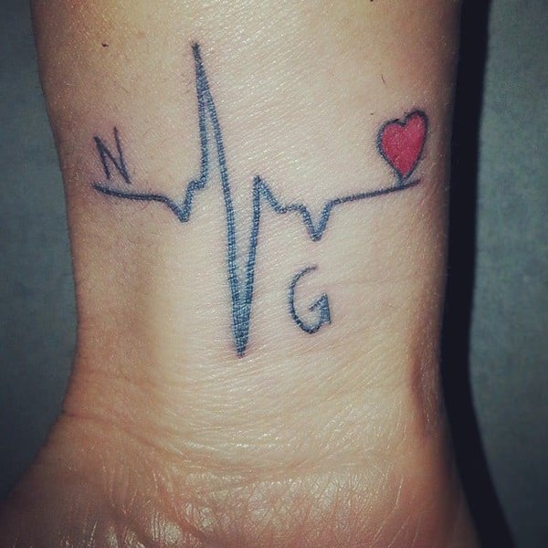 55 Amazing Heartbeat Tattoo Designs You Should Consider