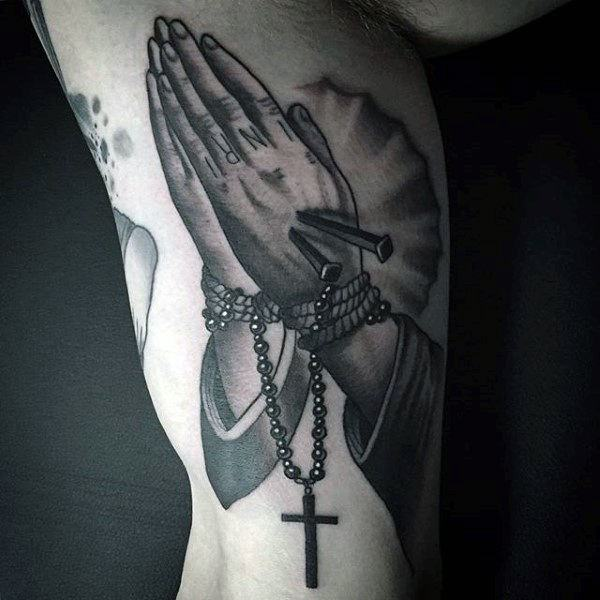 26c3801251bc4 Aside from aesthetics, tattoos hold a deeper meaning for the wearer.  Understanding what the rosary tattoo signifies will better help you decide  whether this ...
