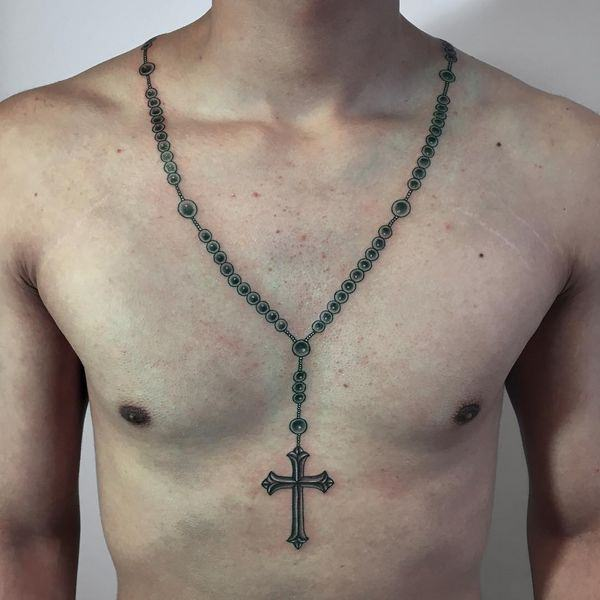 75 Brilliant Rosary Tattoo Ideas And Their Meanings Wild Tattoo Art