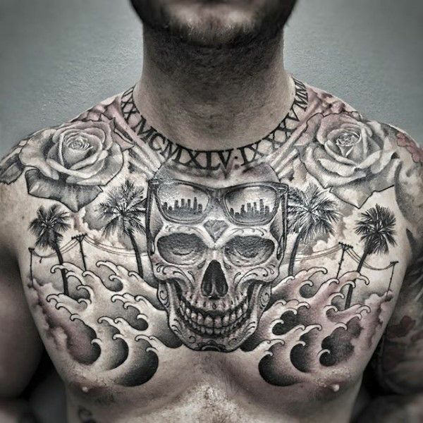 Chest Tattoos: 255+ Best Chest Tattoos You Can Opt For: #110 Will Blow