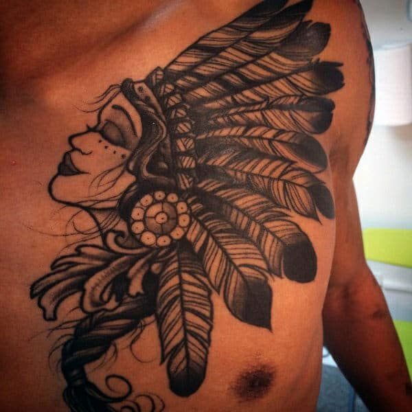 255+ Best Chest Tattoos You Can Opt For: #110 Will Blow