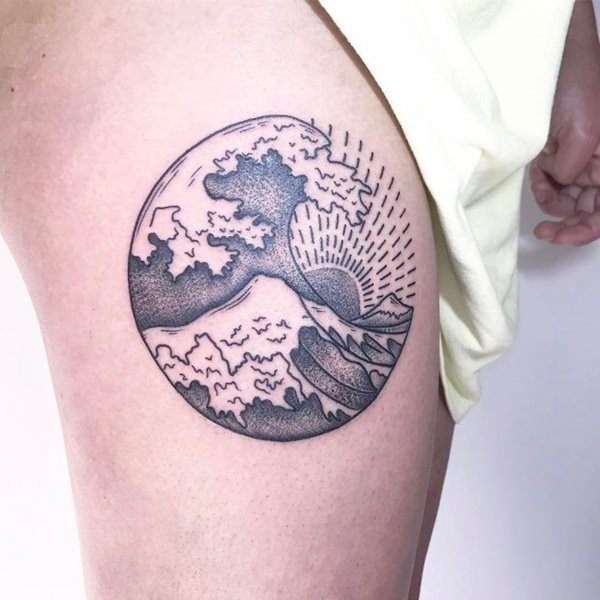 125 Best Wave Tattoo Ideas For Reducing Stress And Depression