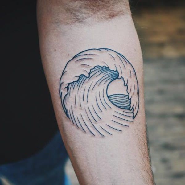 0f38524cf 125+ Best Wave Tattoo Ideas for Reducing Stress and Depression ...