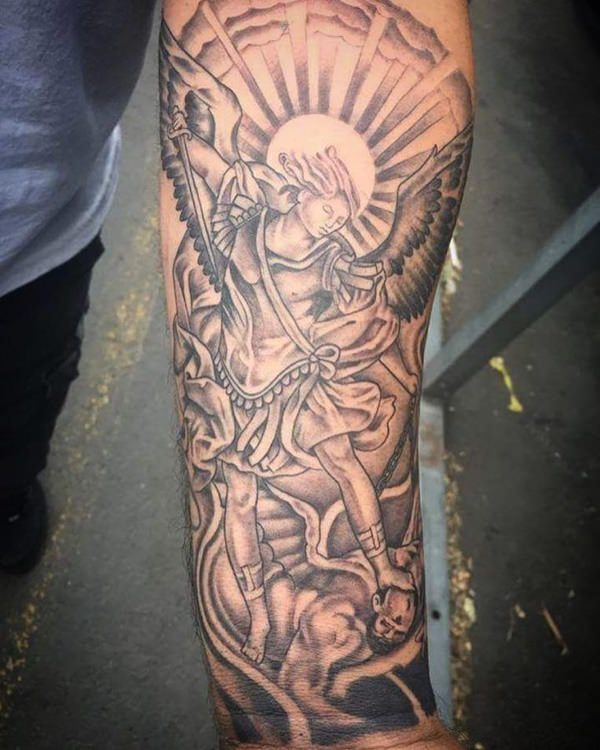 155+ Saint Michael Tattoos: Everything You Need to Learn ...