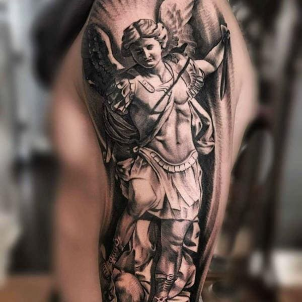 a45594e54b6c8 155+ Saint Michael Tattoos: Everything You Need to Learn! (with ...