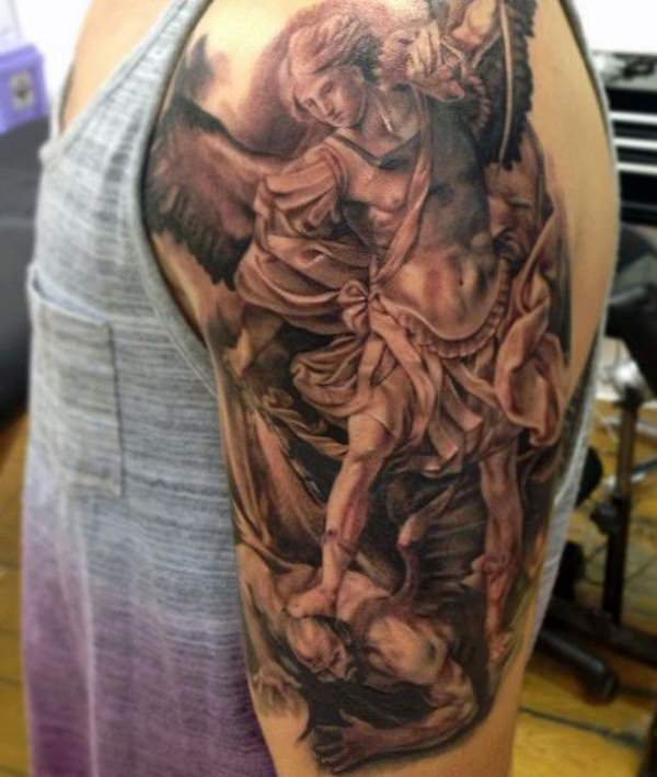 St Michael Back Tattoos: 155+ Saint Michael Tattoos: Everything You Need To Learn