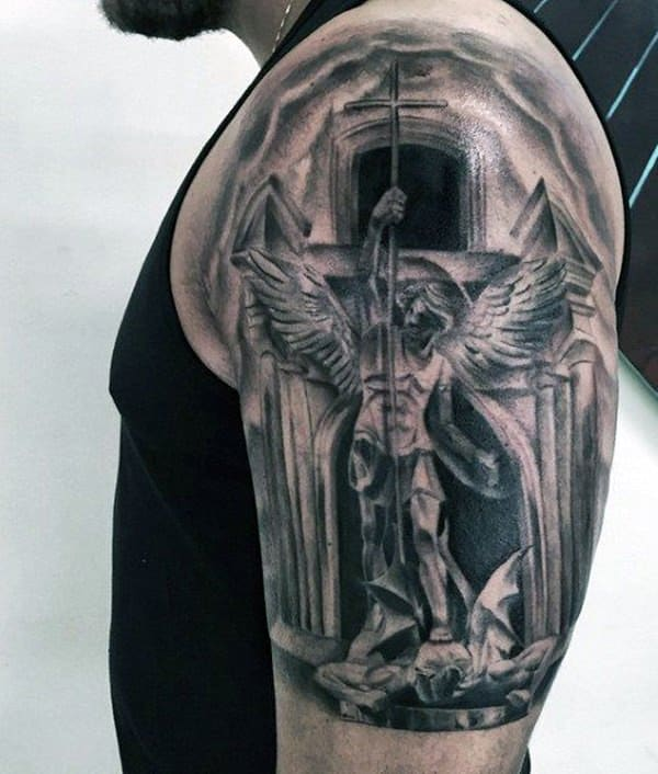 155 Saint Michael Tattoos Everything You Need To Learn With Meanings Wild Tattoo Art