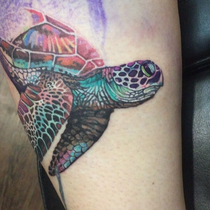 9d5156c9b Hawaiian turtle tattoos are mostly in blue and black color depicting the  ancient history of these sea creatures and how important they have become  for ...