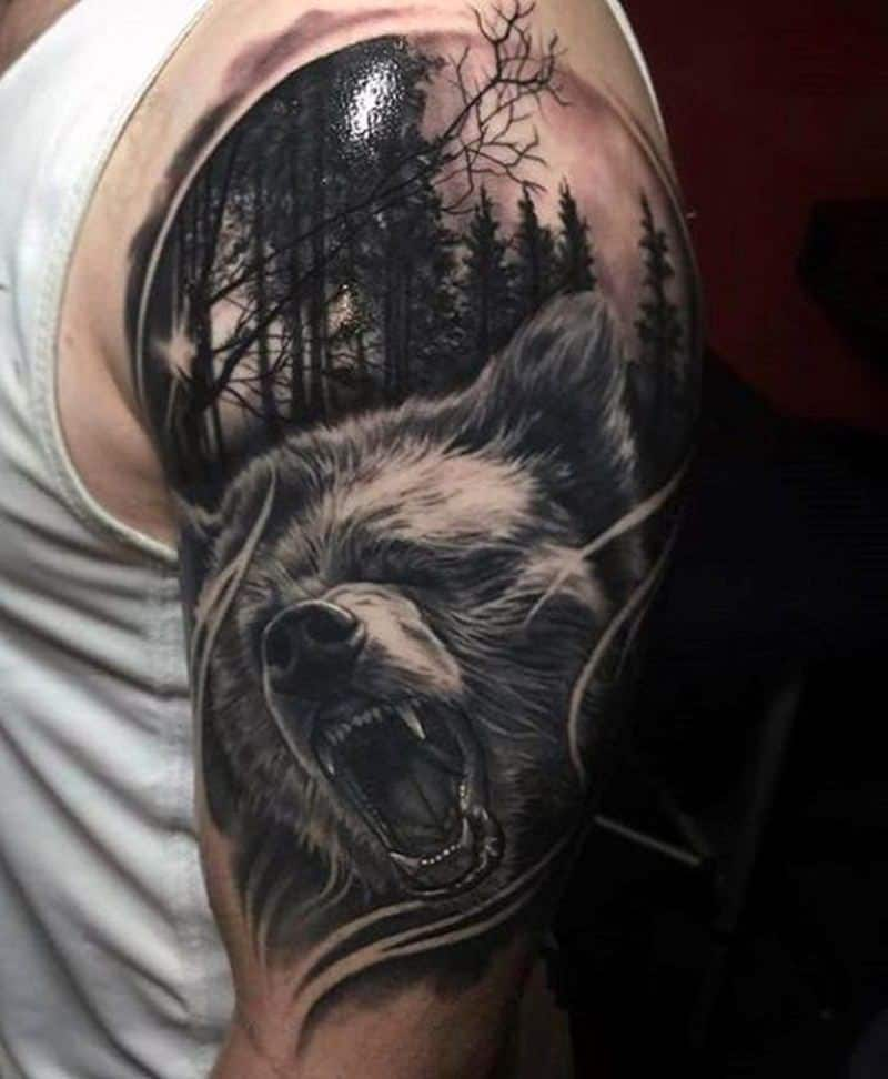 8bae55046 125 Unique Bear Tattoo Designs – A Sign of Diversity - Wild Tattoo Art