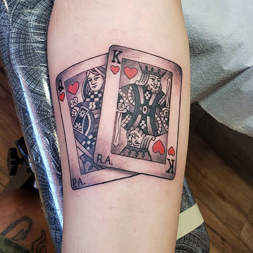 King and Queen Card Tattoo
