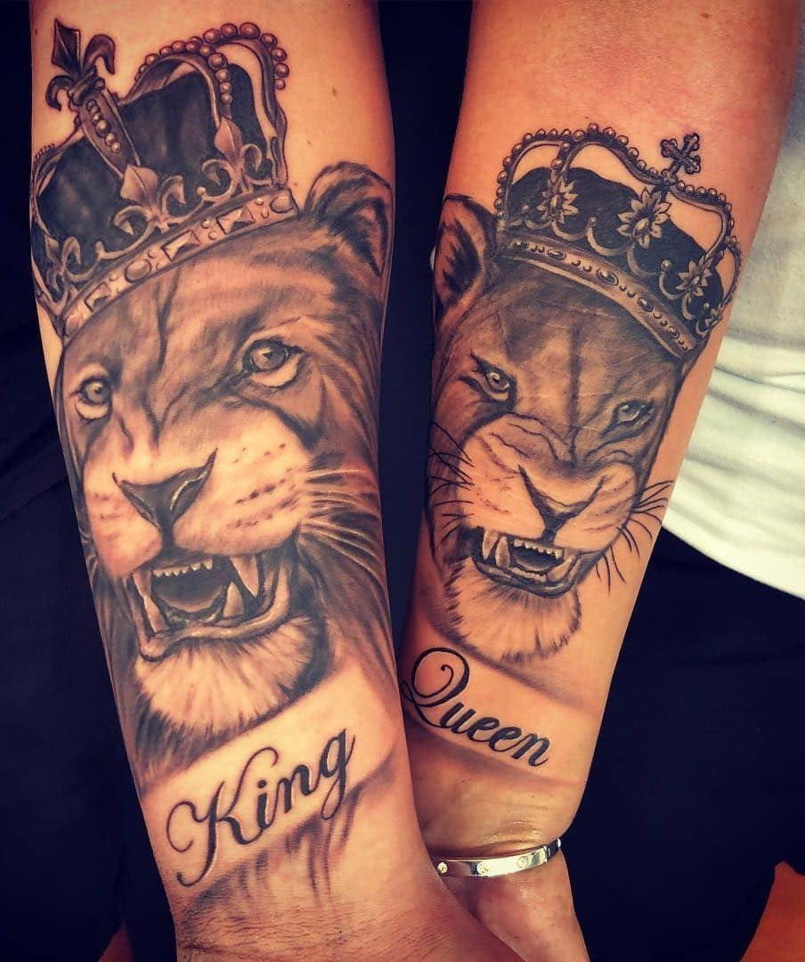 Lion King and Queen Tattoo