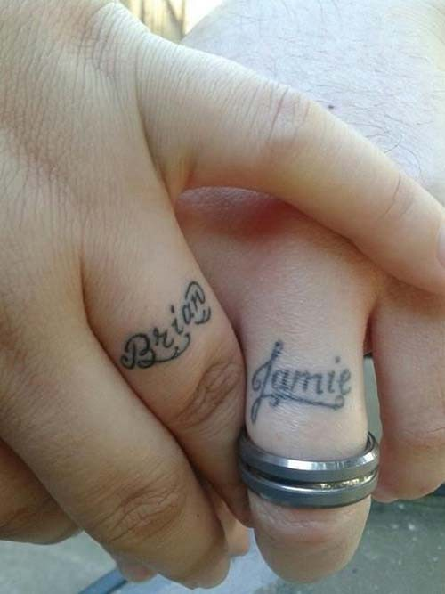 Minimal Finger Name Tattoo
