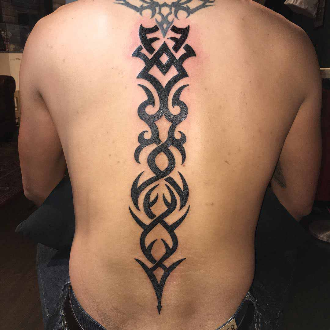 Tribal Spine Tattoo