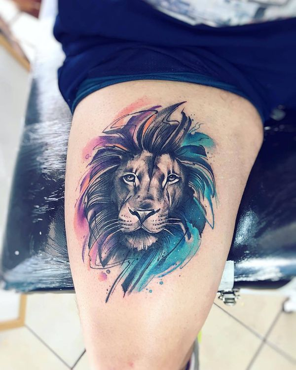 courageous lion tattoo